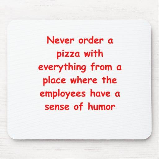 piada da pizza mousepads
