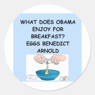piada de anti-obama adesivo