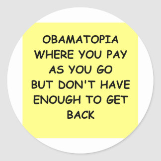 piada de anti-obama adesivo redondo