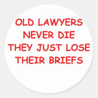 piada do advogado adesivo em formato redondo