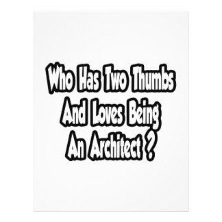 Piada do arquiteto… dois polegares panfletos personalizado