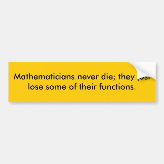 Piada dos matemáticos adesivo para carro