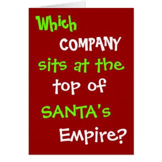 Piada engraçada do cartão de Natal do advogado do