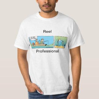 Piada profissional da pesca do carretel camiseta