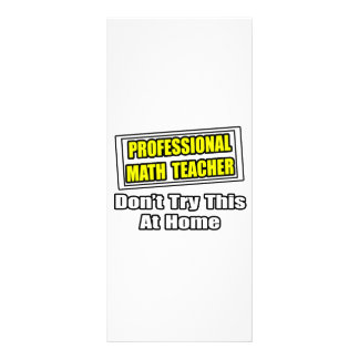 Piada profissional do professor de matemática… panfletos informativos