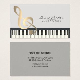 Pianista do músico do teclado de piano do cartão de visitas