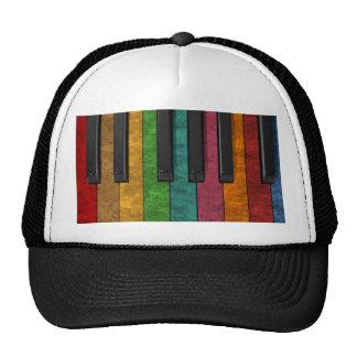Piano antigo colorido legal do efeito do grunge boné
