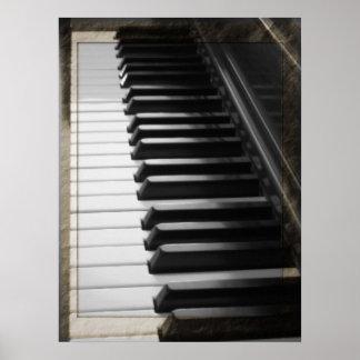 Piano antigo do estilo pôster