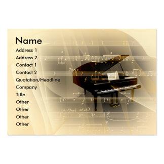 Piano da música cartão de visita grande
