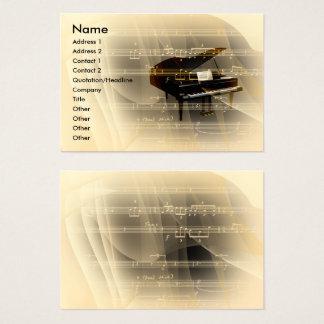 Piano da música cartão de visitas