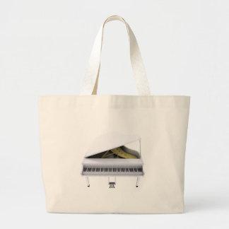 Piano de cauda branco: modelo 3D: Bolsas
