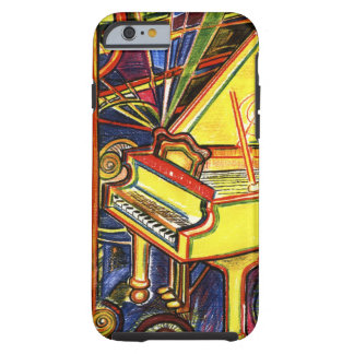 Piano de cauda colorido capa tough para iPhone 6