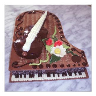 Piano de cauda do chocolate impressão de foto