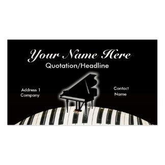 Piano de cauda e teclado cartão de visita