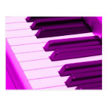 Piano de Fusha ou teclado cor-de-rosa do órgão Cartao Postal