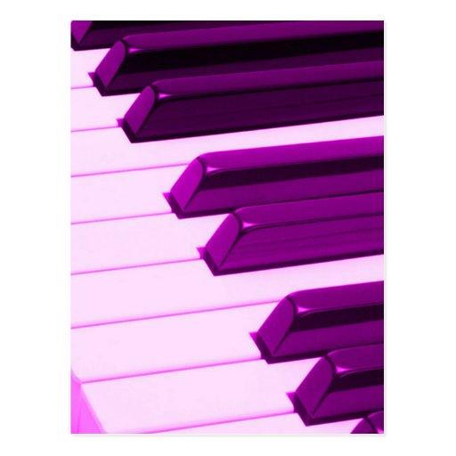 Piano de Fusha ou teclado cor-de-rosa do órgão Cartão Postal