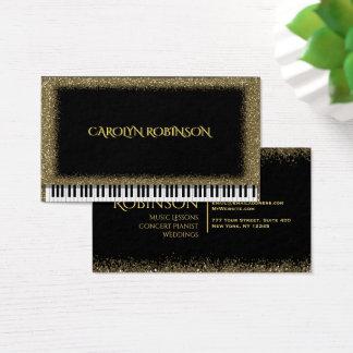 Piano do brilho do ouro cartão de visitas