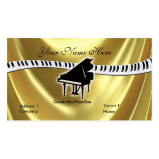 Piano do ouro e cartão de visita grandes do teclad