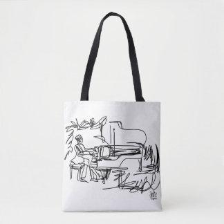 Piano e o bolsa temático da música