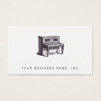 Piano ereto do vintage cartão de visitas