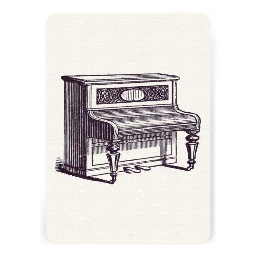 Piano ereto do vintage convites personalizados