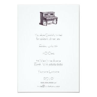 Piano ereto do vintage convite 8.89 x 12.7cm