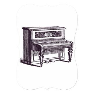 Piano ereto do vintage convite 12.7 x 17.78cm