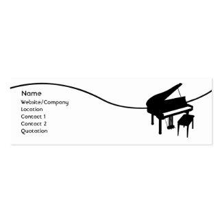Piano Modelos Cartao De Visita