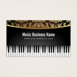 Piano realístico luxuoso do professor de música cartão de visitas