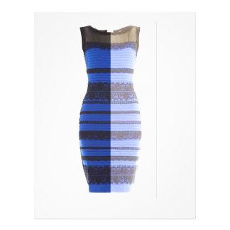 PIC azul preto do insecto do vestido da imagem Flyer 21.59 X 27.94cm