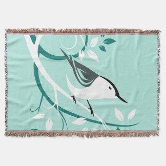 Pica-pau-cinzento branco decorativo cobertor