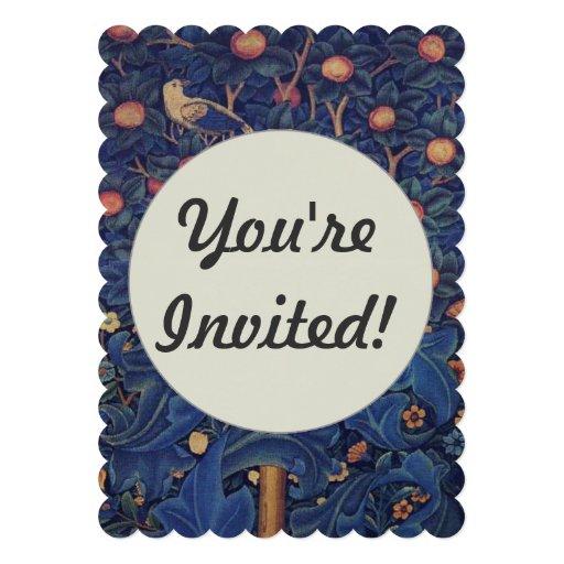 Pica-pau do design floral dos pássaros da tapeçari convite personalizados