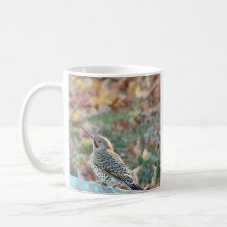 pica-pau do outono caneca de café