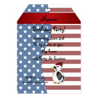 Pica-pau patriótico conhecido personalizado convite 12.7 x 17.78cm