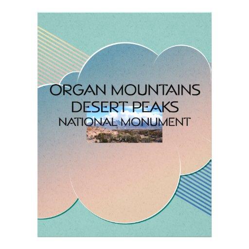 Picos do deserto das montanhas do órgão panfletos personalizados