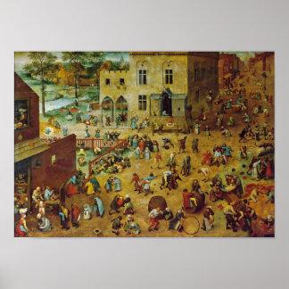 Pieter Bruegel a pessoa idosa - os jogos das crian Posters