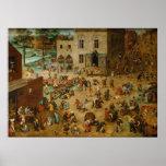 Pieter Bruegel a pessoa idosa - os jogos das crian Pôsteres