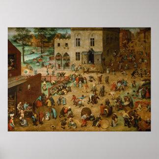 Pieter Bruegel a pessoa idosa - os jogos das crian Poster