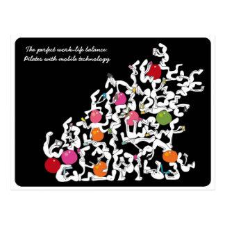 Pilates + cartão handheld da tecnologia, preto