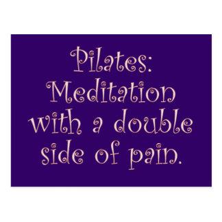 Pilates é apenas meditação com muita dor cartão postal