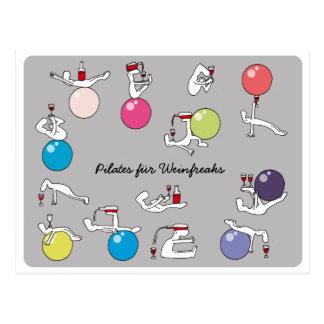 Pilates para o cartão dos amantes de vinho, ALEMÃO