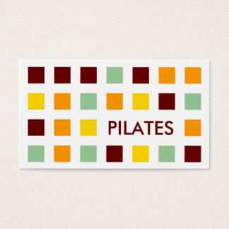 PILATES (quadrados da modificação) Cartão De Visitas