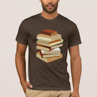 Pilha de livros - bege camiseta