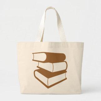 Pilha de livros de Brown Bolsas Para Compras