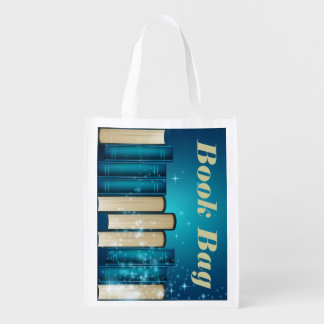Pilha de sacola reusável dos livros