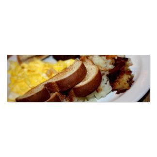 Pilha do pequeno almoço cartão de visita skinny