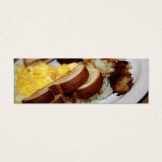 Pilha do pequeno almoço cartão de visitas mini