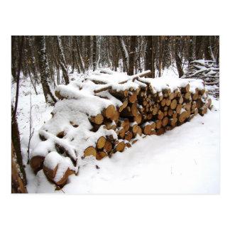 Pilha do registro no cartão das madeiras