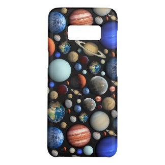Pilha do teste padrão temático do espaço dos capa Case-Mate samsung galaxy s8