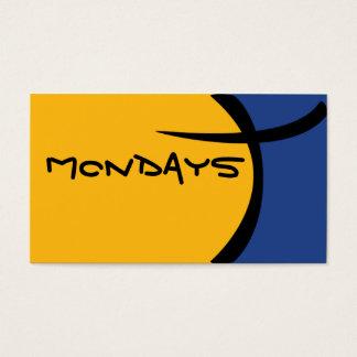 Pilha dos desenhos animados - azul e amarelo cartão de visitas